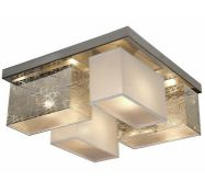 17 Stories, Pascoe 4-Light Semi Flush Mount x2 (SILVER/GRAPHITE) - RRP £131.99 (XBRN1017 - 15792/
