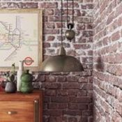 Borough Wharf, Santa Rosa 1-Light Dome Pendant (ANTIQUE BRASS) - RRP £134.99 (BWHA1249 - 15792/35)