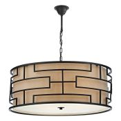 Bloomsbury Market, Parker 4-Light Drum Pendant (MATT BRONZE) - RRP £299.99 (DLI7466 - 15792/16) 6F