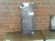 Graham & Brown,Wooden Visions Good Things Typography Plaque RRP -£30.99 (FZS2067 -15055/34)