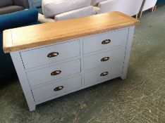 Hampshire Grey Painted Oak 2 Over 3 Chest (WXF P11