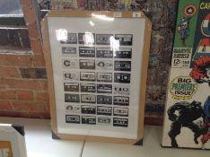 George Oliver,'Cassette Tapes' Framed Graphic Art Print RRP -£26.99 (LAST1668 -15055/8)