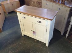 Chester White Painted Oak 2 Door Small Sideboard (