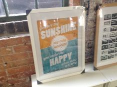 East Urban Home,You are My Sunshine' Textual Art in Yellow/Blue RRP -£24.9 (EUCJ7175 -15055/15)