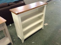 Chester White Painted Oak Small Wide Bookcase (CH40C-NC-SWB-W)