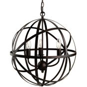 Wrought Studio, Guardado 3-Light Globe Pendant (ANTIQUE BROWN) - RRP £143.99 (FSL2913 - 13009/12)