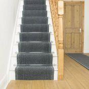 Ophelia & Co.,Abbigail Needlepunch Grey Stair Runner RRP - £84.99 (H16053 - 11/34 -RNGU1258.