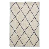 August Grove,Octavia Handmade Shag Ivory Rug(150X230CM) - RRP £141.99 (HOKF3212 -18321/26)