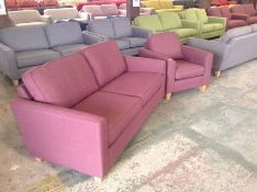 PORTIA Turin Mulberry Medium Sofabed and Chair ( S