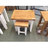 WHITE AND OAK NEST OF 2 X TABLES