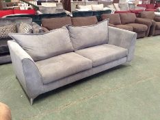 GREY CORD LARGE 3 SEATER SOFA (MARKED ) (HH15-6851