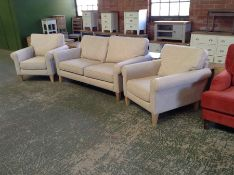 D'ARLO BRUSHED COTTON 2 SEATER AND 2 CHAIRS (SFL10