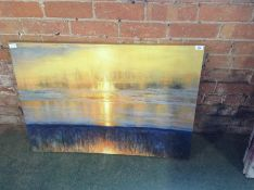 Big Box Art,'Sunset' by Valerie Petts Painting Print on Canvas RRP £58.99(10043/71 JKT85772)