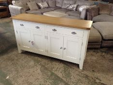Suffolk White Painted Oak 4 Door Extra Large Sideb