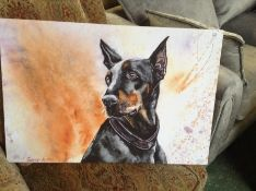Marmont Hill,Doberman by George Dyachenko Painting Print on Wrapped Canvas RRP £94.32(10043/27