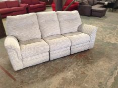 BISCUIT MANUAL RECLINING HIGHBACK 3 SEATER SOFA (T