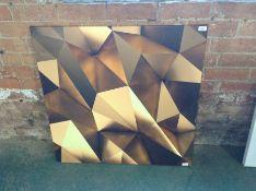 East Urban Home,Leinwandbild 3D goldener Hintergrund RRP £49.99(10043/34 EUBJ9288)