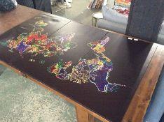 East Urban Home,'World Map' Multi-Piece Image Grap