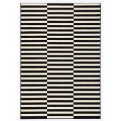 Hanse Home, Panel Rug in Black/Cream Panel Rug in Black/Cream Panel Rug in Black/Cream Panel Rug