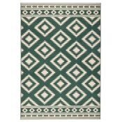 Hanse Home,Ethno Rug in Green/Cream (80X300CM) RRP -£52.49(18321/40 -HEHM1421)