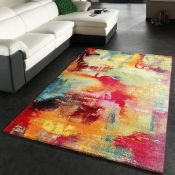 17 Stories,Jarred Red/Yellow Rug (240X330CM)RRP -£46.99(18321/18 -ALAS6675)