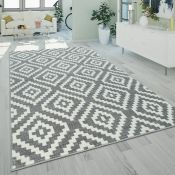 World Menagerie,Shelley Shag Grey/White Rug (160X220CM)RRP -£58.99(18321/35 -PSCH1237)