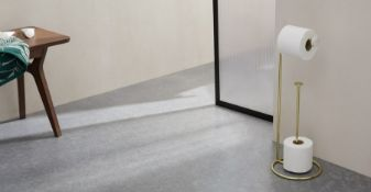| x1 | Sakari Marble Freestanding Toilet Roll Holder, Brass| RRP £35 | MAD-BACSAK001ZBS-UK | (W40-