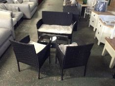 Sol 72 Outdoor,4 Seater Rattan Conversation Set -