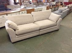 NATURAL PATTERN SPLIT 4 SEATER SOFA (DIRTY MARKS)