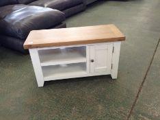 Chester Grey Painted Oak Small TV Unit (F100 - -NC-TV-PT)
