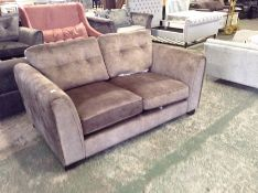BEIDE SADDLE 2 SEATER SOFA (BROKEN ZIP ON CUSHION)