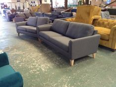 CARNABY TWEEDY WEAVE DARK GREY4 SEATER (RIP ON SOF