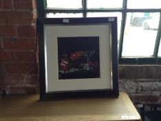 East Urban Home,'Praying for Seven Liquid Art' Framed Graphic Art Print (DAMAGE)RRP £77.99(10043/33