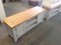 Hampshire Grey Painted Oak Large TV Unit (DAMAGED)(WXF P24- E -16)