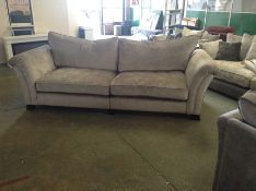 GREY PATTERNED LARGE SPLIT 4 SEATER SOFA (HH176691