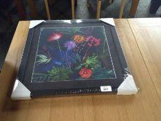 Wildon Home,'Indigo Tropical' Framed Graphic Art Print RRP £34.99(10043/49 WLDH4820)