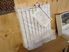 Belfry Heating,Angela Horizontal Oval Panel Radiator Radiator Colour: White, Size: 60cm H x 58.4cm W