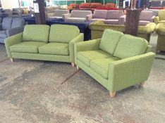PORTIA Como Green 2.5 str and2 SEATER SOFA (SFL903