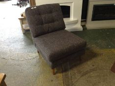 GREY FABRIC ARMLESS CHAIR (WM14 K112)
