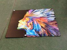 Colourful portrait picture