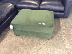 AMALFI GREEN STORAGE STOOL FOOTSTOOL (SFL1105-700219338939)(DAMAGE)