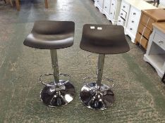 | x1 | Set of 2 Kudo Adjustable Barstools, Grey| RRP £99 | MAD-BARKUD001GRY-UK |
