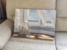 East Urban Home,'Inverse' by Lindsay Megahed Oil Painting Print on Wrapped Canvas (small)