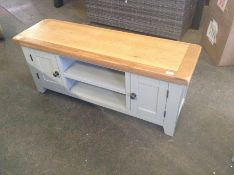 Hampshire Grey Painted Oak Large TV Unit(DAMAGED)(