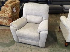 GREY GABRIC MANUAL RECLINING CHAIR (TR002029 W0081