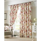 Ashley Wilde Curtains, Carnaby Pencil Pleat Room Darkening Panel Curtains (117X137CM) - RRP £27.