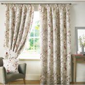 Ashley Wilde Curtains, Anita Pencil Pleat Room Darkening Curtains (117X137CM)(DIJON) - RRP £26.99 (