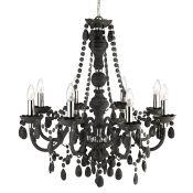 Rosdorf Park, Aurelio 8-Light Candle-Style Chandelier (CHROME/CLEAR) - RRP £210.99 (HOHA1663 -