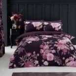 Wayfair Basics, Floral Duvet Cover Set (DOUBLE)(TEAL) - RRP £16.99 (GAVC1693 - 13770/44) 2H