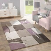 17 Stories,Ansley Purple/Beige Rug - RRP £31.99 (120x170cm) (ALAS6242 -17633/23)
